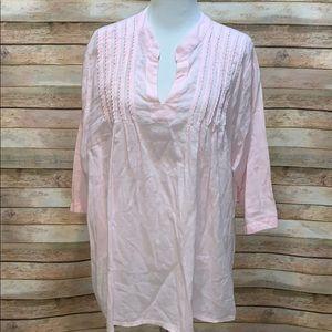 Lane Bryant pink blouse